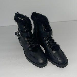 | Nanette Lepore Imane Faux Fur Combat boot 9